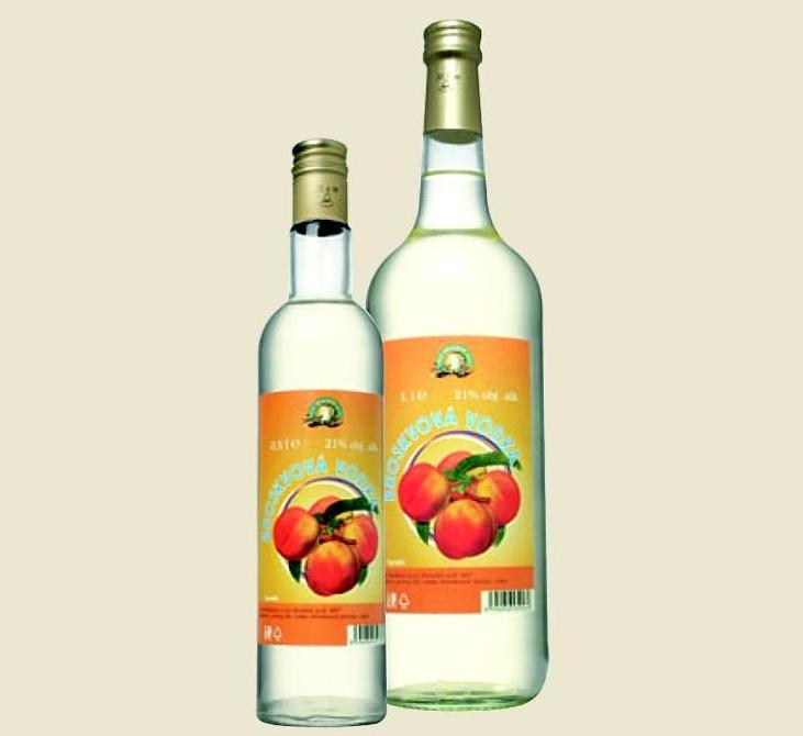 Vodka broskvová 21% 0,5L